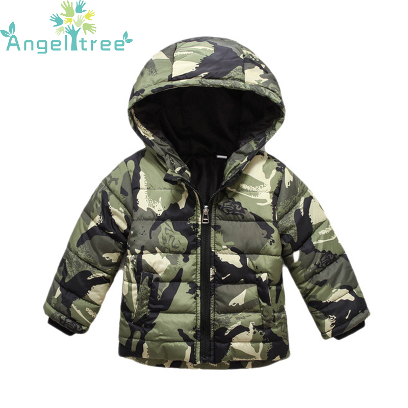 Boy Clothes Camouflage Hooded Winter Kids Down Jacket Clothes Warm Boys Girls Jackets & Coats Baby Outerwear Children Clothing