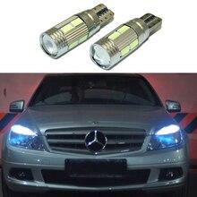 2x T10 LED W5W Auto HA CONDOTTO LA Lampada Auto 12 V Liquidazione Parcheggio Luce lampadine con Lente Del Proiettore per Mercedes- benz w203 GLK R ML W204 C E