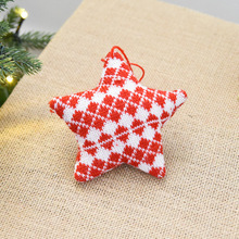 FUNNYBUNNY Wool Christmas Tree Ornaments Xmas Hanging Pendant Decoration Party Supplies Love tree five-pointed star
