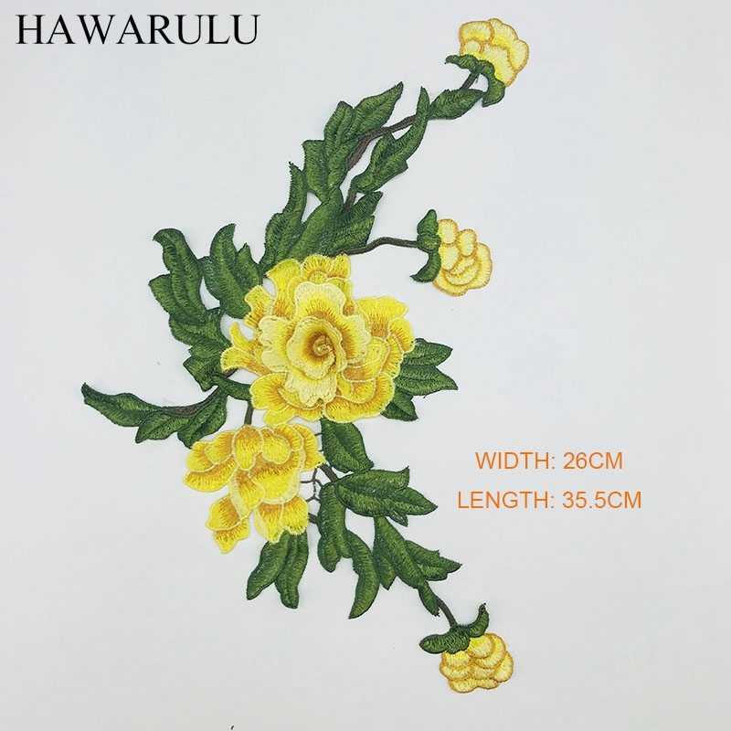 HAWARULU 2 pcs של רקמת מסללה שמלת צווארון 3D פרחי DIY מלאכות/weding/תיק בגדי אביזרים