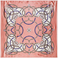 90cm*90cm National Bohemian Style Chain Painted color matching women silk satin large square scarf