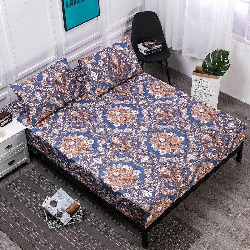 Neue 160x200 cm Druck Bett Matratze Abdeckung Wasserdichte Matratze Protector Pad Ausgestattet Blätter Bettnässen Bug Anzug für russische Größe