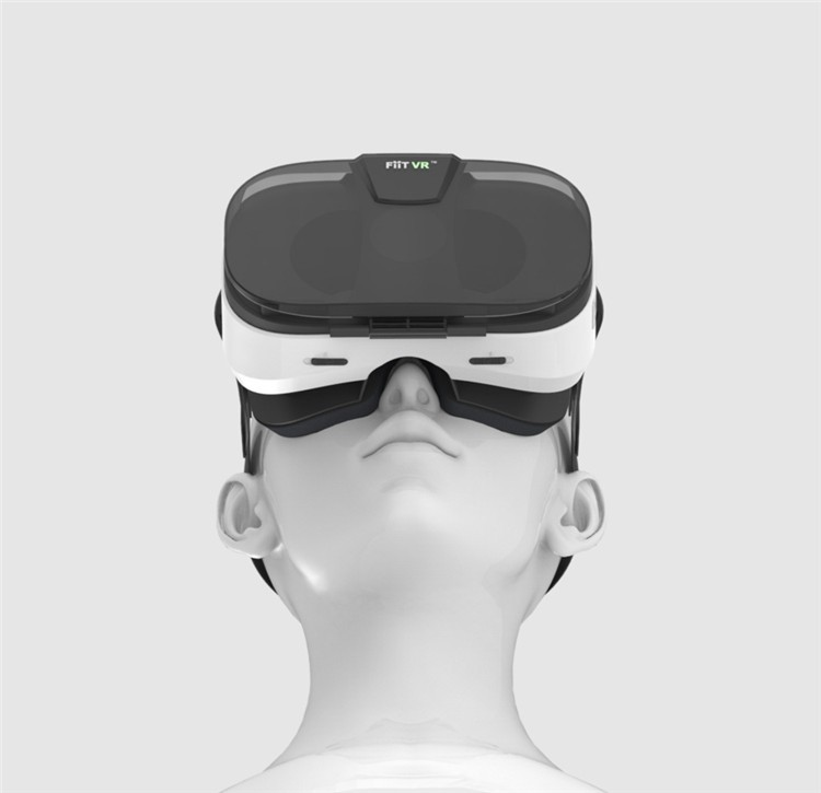 FIIT VR 3D Virtual Reality Video Helmet Cardboard 2.0 VR Glasses Box for 4.0-6.5 inch Smartphone Lightweight Ergonomic Design (21)