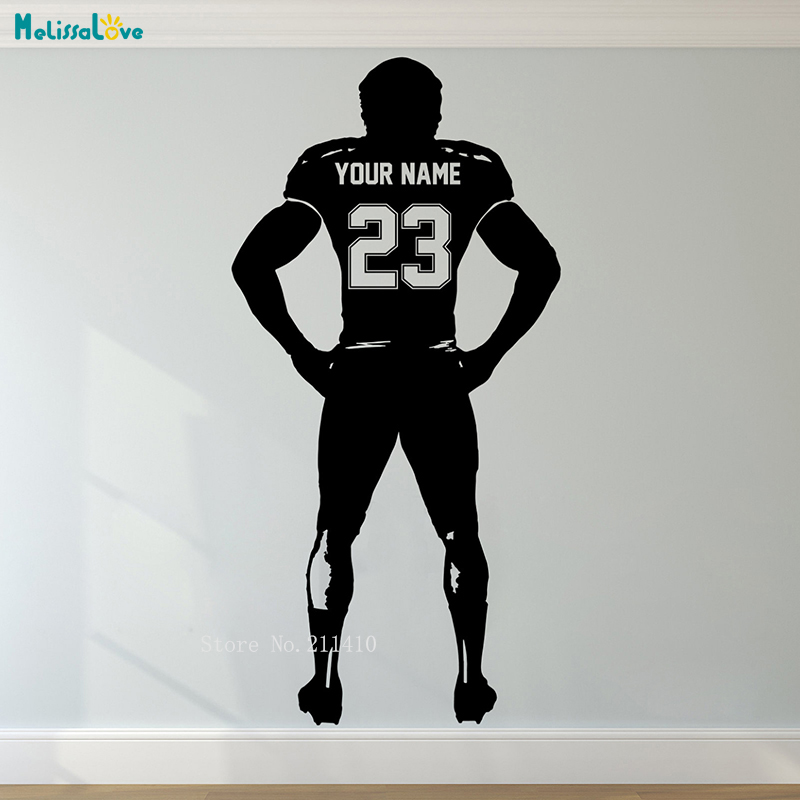 Custom Jersey Name And Number Rugby Athlete Wall Sticker