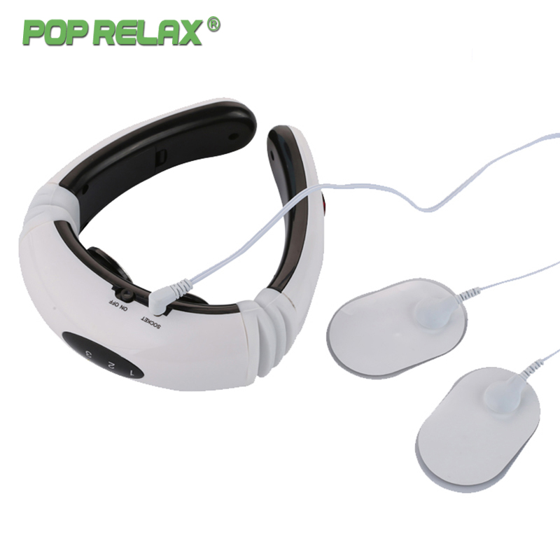 Electric Massager Neck Health Care Neck Pain Relief Release Pulse Wireless Low Frequency Acupuncture Cervical Neck Massager Pop
