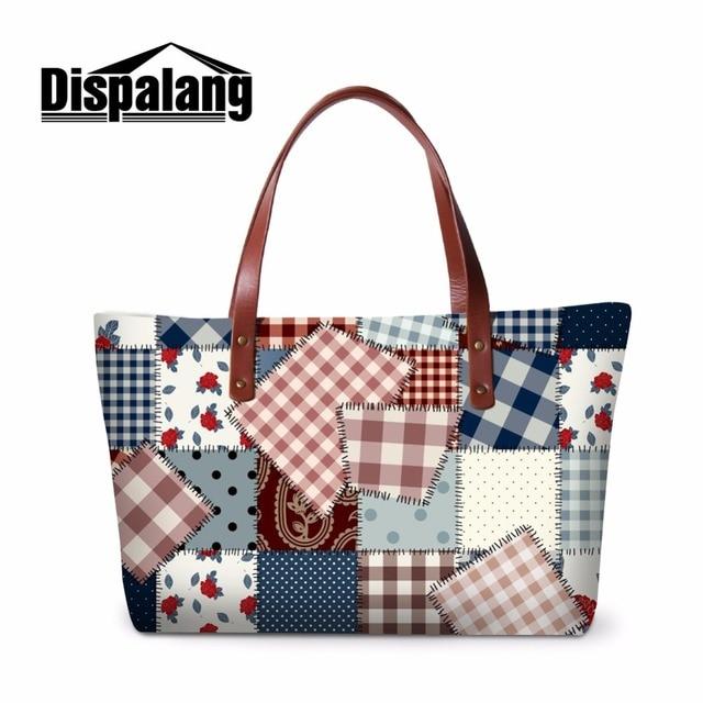 dc611a975 Dispalang Patchwork Ombro Bolsa Das Mulheres Bolsa de Tecido Impresso saco  Do Mensageiro para Senhoras Colorido