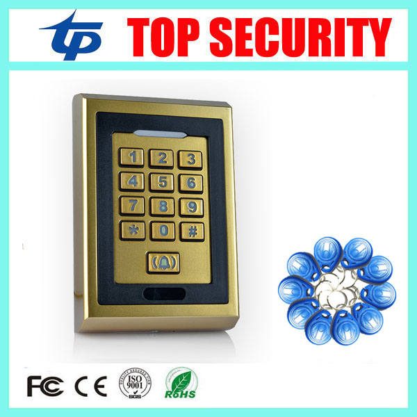 ФОТО Free shipping 10 RFID Key+RFID Proximity Card Access Control System Waterproof Keypad RFID/EM Card Access Control Door Opener