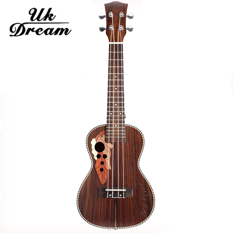 Ukulele Wooden Acoustic Guitar Brown Musical Instruments 23-inch Classic Fringe Closed Knob Rosewood Guitarra Ukelele UC-73M 12mm waterproof soprano concert ukulele bag case backpack 23 24 26 inch ukelele beige mini guitar accessories gig pu leather