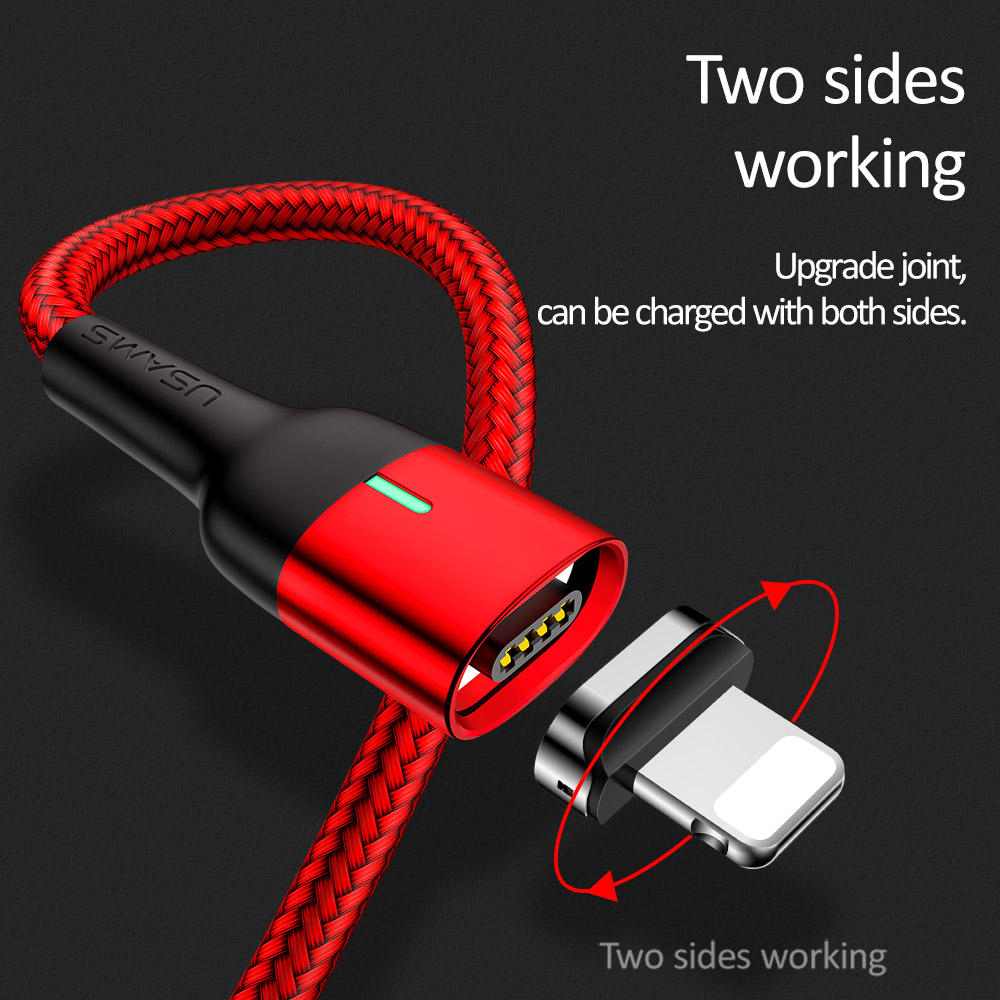 Image 3 - Magnetic Cable for iPhone Samsung USAMS 3A Fast Charging Magnet phone USB Cable Micro USB Type C cable Magnet Charger&Data Sync-in Mobile Phone Cables from Cellphones & Telecommunications