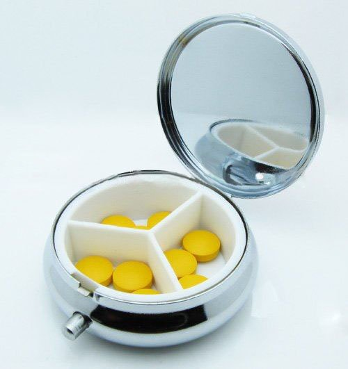 Wholesale 600PCS Silver Blank Pill Boxes Metal Organizer Box Of Medicine Customized DIY Promotion Gifts -DHL Free Ship