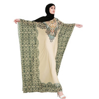2019 NEW 1PC Summer Dress Muslim Women Printing Easy Islamic Clothing Rayon Gown Middle East Long Dress Vestidos 4.12