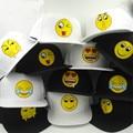 Summer Baseball Cap Hats QQ Emoji Smile Hat Smile Color Hip Hop Flat Along Brimmed Baseball Caps Tide Personality