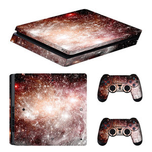 Image 5 - blue Starry Sky Star Console Skin Cover For Playstation 4 Slim Console PS4 Slim Skin Stickers Controller LED Protective