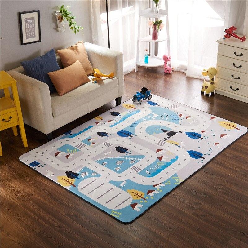 Esteira do Jogo infantil Brilhante Espessamento Sala de estar das Crianças Não-slip Mat Rastejando Mat Camurça Escalada Jogo de Tapete de Carpete não-Tóxico