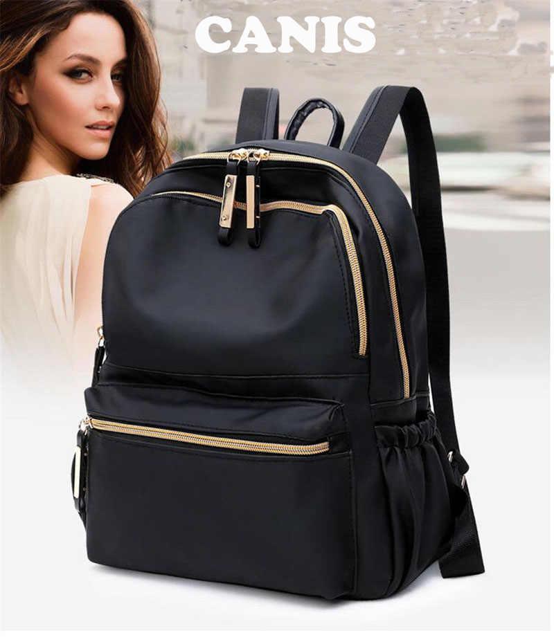 2019 yeni marka moda kadın su geçirmez Oxford bez seyahat sırt çantası naylon Anti-theft çift omuz