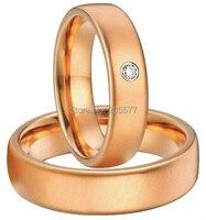 Классическая роза золотое покрытие для женщин и мужчин Простые 10 лет Свадебные кольца на годовщину наборы для пар