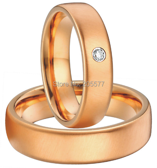 classic rose gold plating women and mens simple plain 10 year