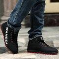 Осень и зима мужской спортивная обувь утолщение хлопка мягкой обуви мужской плюс бархат обувь мода скейтбординга обувь мужской высокая