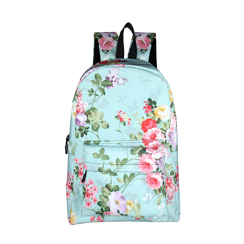 Korean Style Floral Print Women Backpack Flower Teenage Girls School Bags Female Lady Casual Daypack Students School Backpack cartoon melanie martinez crybaby backpack for teenage girls school bags backpack women casual daypack ladies travel bags