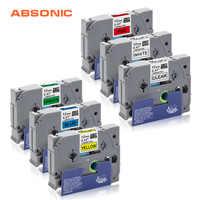 Absonic Tze231 TZe Label Tapes Compatible Brother P-touch Printers Tze-231 12mm for Brother P Touch Tze PT Labeler tze 231 tz231