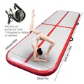 AirTrack Tumbling Air Track Inflatable Gymnastics Floor Trampoline Electric Air Pump for Home Use/Training/Cheerleading/Beach