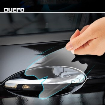 NEW TPU stickers Car door handle protector film Sticker for Porsche Cayenne Panamera Macan 718 Door bowl protection image
