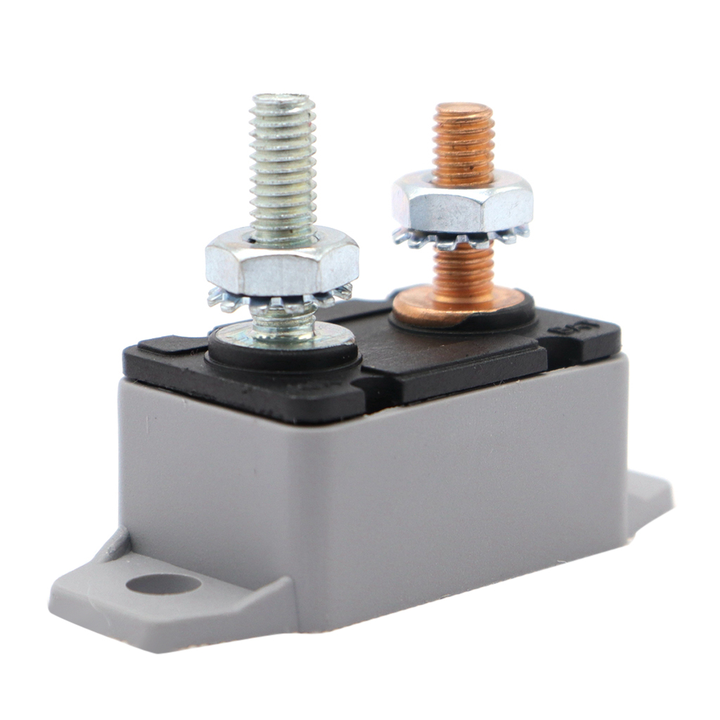 50Amp Auto Reset 12V 24V Circuit Breaker Car Automatic Fuse Metal Stud Bolt Type