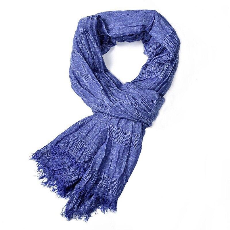 2019 New Hot Spring Men Scarf Fashion Shawls And Wraps Long Cotton Winter Warm Scarves For Gentlemen Tasstel Plian Weave Scarf Men's Scarves