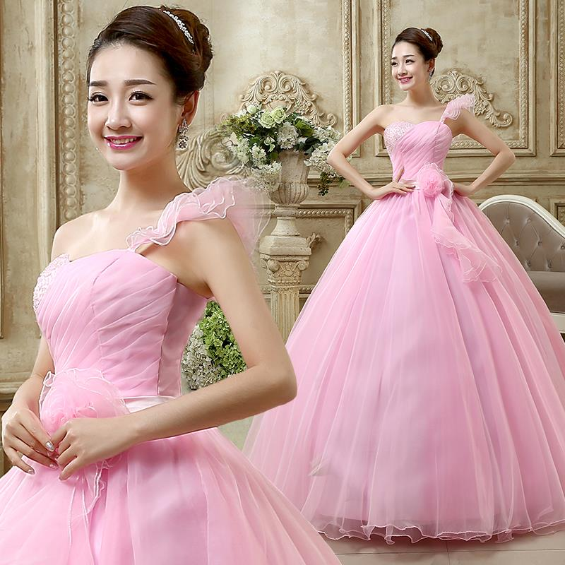 c9d21ccc6bdff Hot Pink Quinceanera Dresses Ball Gown Sweetheart One Shoulder Floral Beading  Debutante Gown Vestidos Baratos Quinceanera-in Quinceanera Dresses from ...