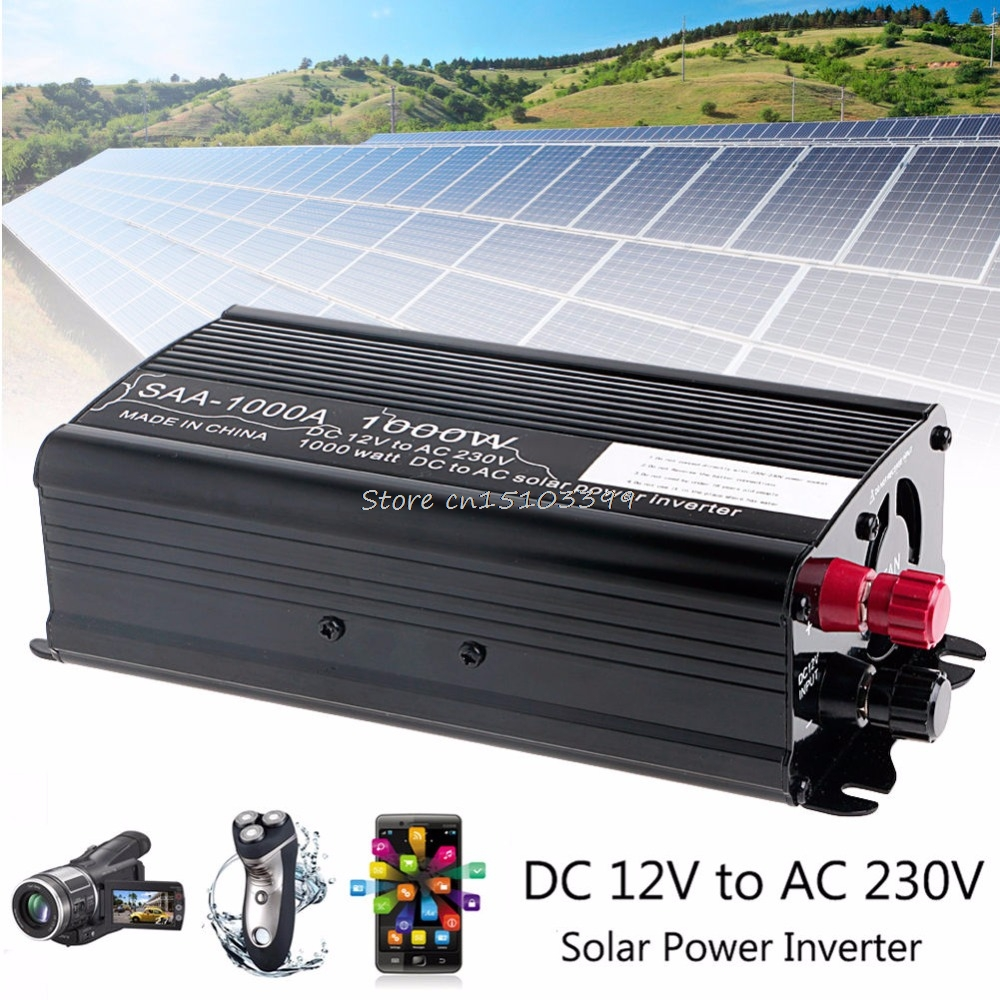 Solar Power <font><b>Inverter</b></font> 2000W Spitzen <font><b>12V</b></font> Zu <font><b>230V</b></font> Modifizierte Sinus Welle Konverter Neue G08 Whosale & DropShip image