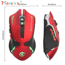 Optical USB Wired Gaming Mouse Top Quality New Hot 3200DPI 7 Buttons Pro LED For Laptop PC Game 10 Million Life Rato 17July10(China)