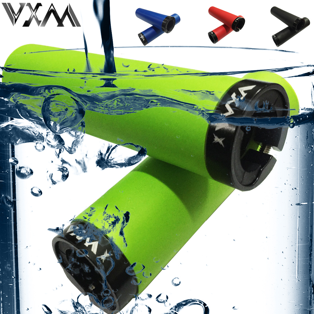 VXM Bicycle Grips MTB Silicone Single lock Handlebar Grips Anti-skid Shock-absorbing Soft Bike Grips Bicycle Parts