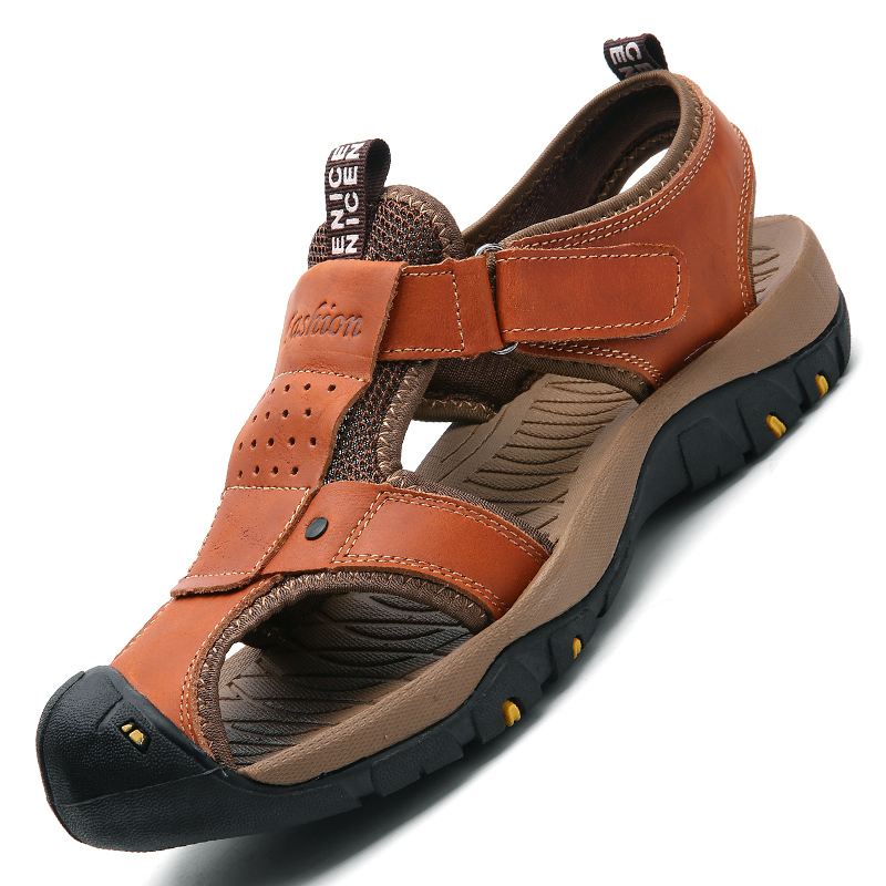 Valstone marka Genuine leather Sandals Men 2018 Vruće prodajne - Muške cipele - Foto 3