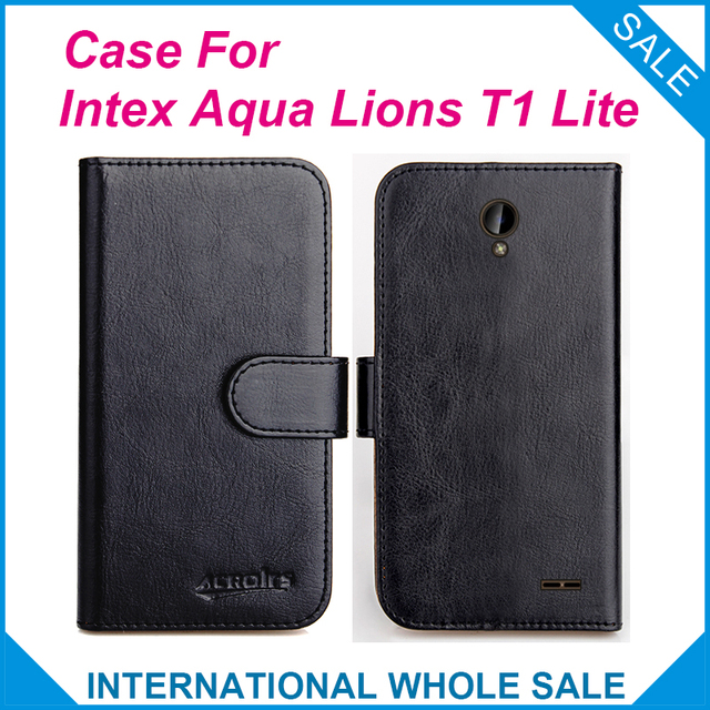 outlet store b8ffe 09739 US $4.59 8% OFF|Original! Intex Aqua Lions T1 Lite Case ,6 Colors High  Quality Leather Exclusive Case-in Flip Cases from Cellphones & ...