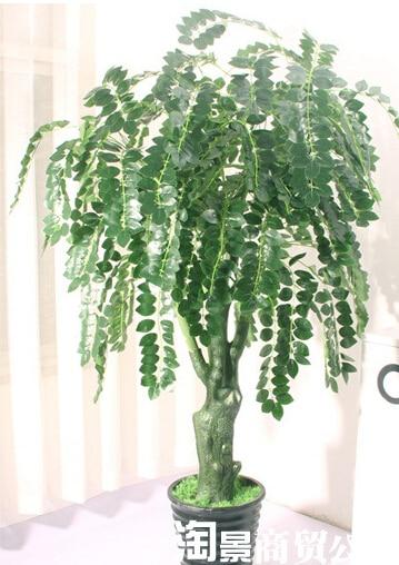 Merveilleux Simulation Fake Trees Bonsai Plants Feng Shui Bonsai Tree Corporate Office  Decoration 1.7 Meters Green String