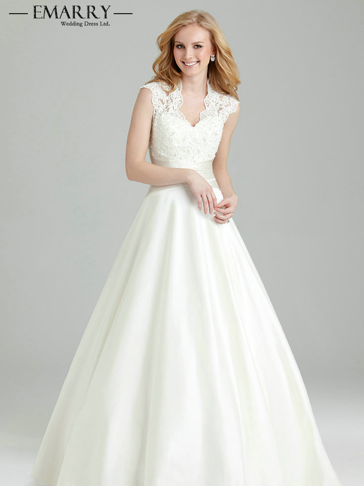 Sz098 Vintage V Neck Lace Top Stain Skirt A Line Wedding Dresses 2017 Pleat Sashes Sleeveless On Bridal Gowns In From Weddings