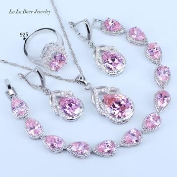 9f6ca0507c2f L   B un conjunto de lujosos juegos de joyas de Color plata 925 de cristal