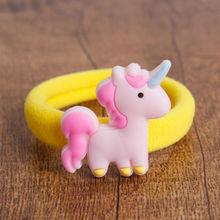 ФОТО #gc831 2pcs/set baby girl hair rope cute cartoon elastic  bands rabbit mikey princess pattern haar elastiekjes hair accessoies