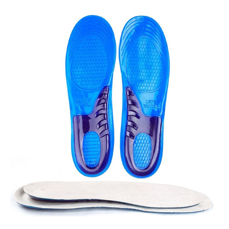 1 Pair Support Massaging Silicone Anti-Slip Gel Soft Sport Shoe Insole Pad For Man Women Hot Sale kotlikoff silicone gel insoles orthotic arch support massaging anti slip gel soft sport shoe inserts insole pad for man women