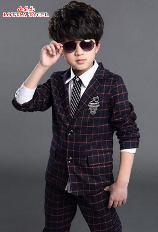 2016 Fashion Boys Formal Suits for Weddings Brand England Style 6-14T Man Child Plaid Formal Party Tuxedos Boys Formal Suits 2016 boys blazer jacket wedding boys suits england style plaid 6 14t gentleman sets boys suit jackets child formal party tuxedos