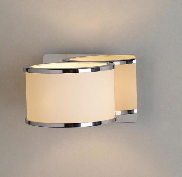 Modern Chrome Art Deco Sconces IP44 Bathroom Light Bedroom Wall Lamp  Fixture Glass Besides Lamp