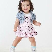 hot baby girl dress summer vestidos cake princess dress+vest kids 2 pcs suit baby girls clothing sets