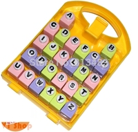 Free Ship Scrap 26 Letters Punches Set Best Gift Paper Punch Sets Children DIY Toy Shaper Craft Scrapbook In Nice Gift Box R422