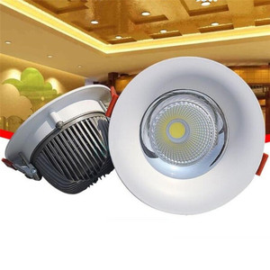 Image 5 - High Quality LED COB Recessed Downlight 10W/15W/20W/30W Warm Pure White LED Spot lamp Led Ceiling Lamp light AC85 265V