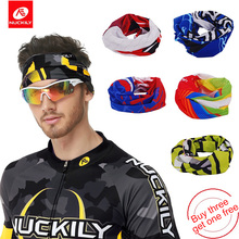 NUCKILY Men's Cycling Bandana Head Scarf Summer Seamless Bike Skull Scarves Head Wear Sport Bicycle Neck Warmer PG94