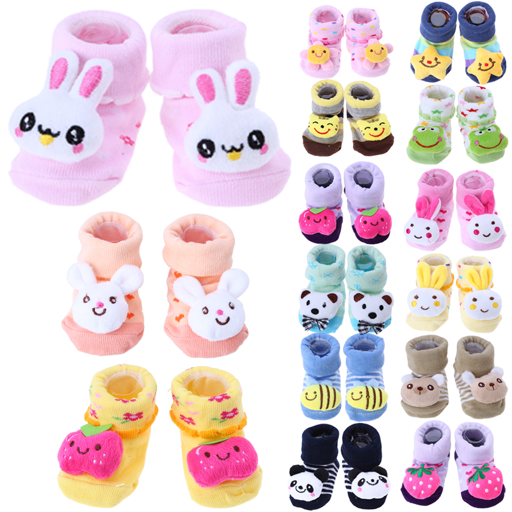 Newborn Baby Autumn Winter Socks Anti Slip Newborn 0 12 Month Cotton Lovely Cute Socks Fashion