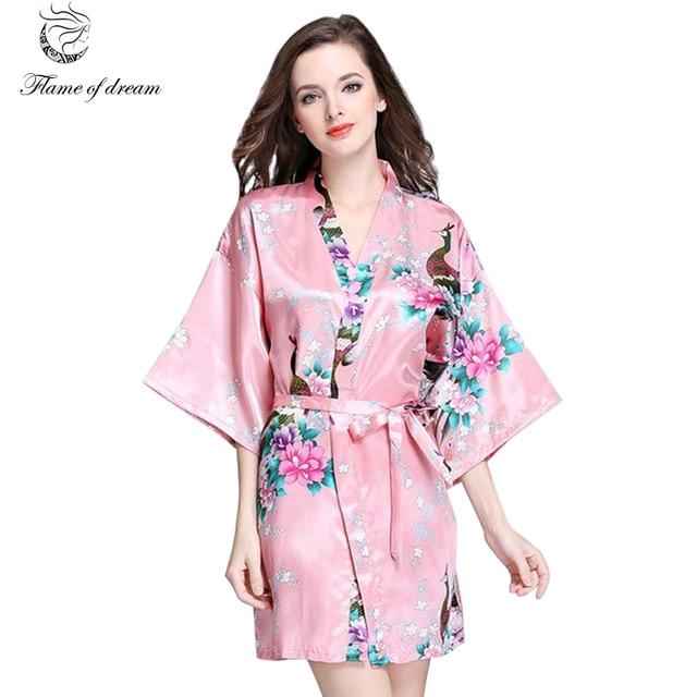 Mujeres más tamaño Albornoces mujer Albornoz kimono ropa interior ...