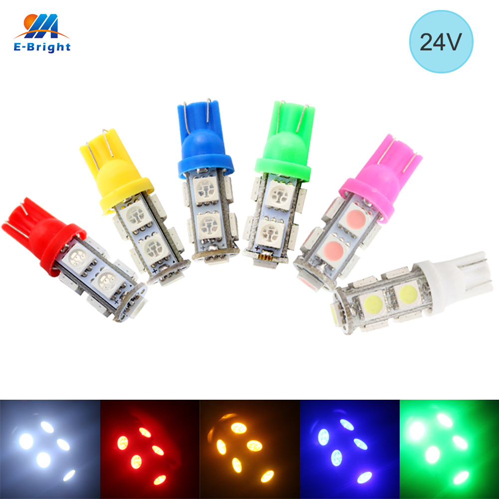 YM E-Bright 24 В постоянного тока 50 шт. T10 5050 9 SMD 194 168 W5W светильник светодиодов лампочка габарисветильник свет клиновидная лампа автомобильный Ста...