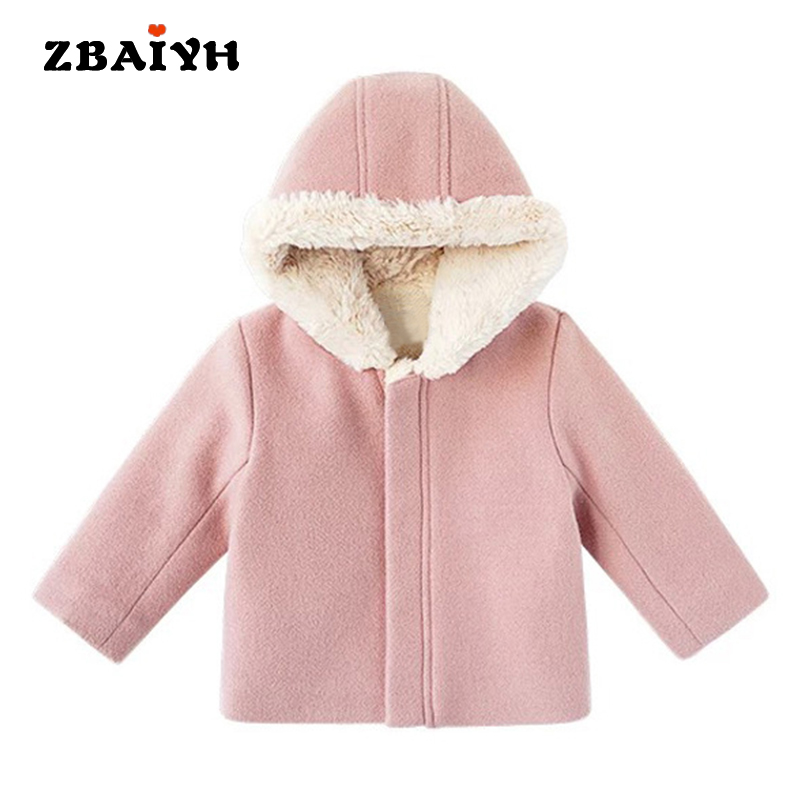 newborn baby girl winter clothes Suede fashion letter Hooded coat Thickening High Quality kids wool jacket children clothing skullies beanies newborn cute winter kids baby hats knitted pom pom hat wool hemming hat drop shipping high quality s30