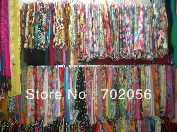 MIXED LOT Womens   SCARVES     wraps   shawl Sarongs Hijabs   scarf   ponhos stole mixed style colors 100pcs/lot #3448
